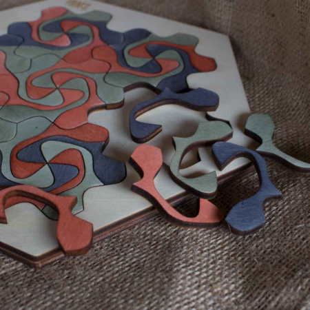 """Puzzle Pentru Adulti Si Copii, Din Lemn, """"Mandala"""" Personalizat [3]"""