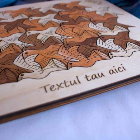 """Puzzle Personalizat Educativ Pentru Copii , Din Lemn, """"Pasari"""" [5]"""