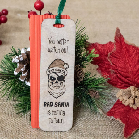 """Semn de carte """"Bad Santa""""1"""
