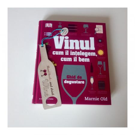 Semn de carte cu mesaj personalizat Sticla de Vin [1]