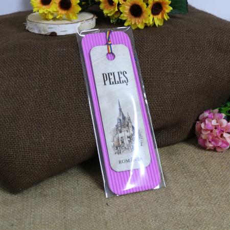 """Semn de carte, din lemn, Gravat """"Castelul Peles"""" Sinaia4"""