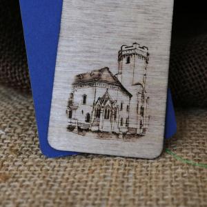 Semn de carte gravat Castelul Karolyi Carei3