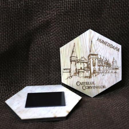"""Set magneti de frigider gravati, """"Cetati si Castele"""" din Romania [4]"""