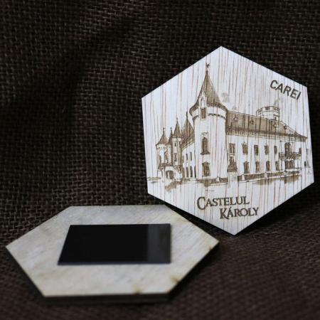 """Set magneti de frigider gravati, """"Cetati si Castele"""" din Romania [5]"""