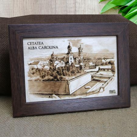 Tablou Gravat Cetatea Alba Carolina, Alba Iulia, dimensiune 10/15, rama inclusa [0]