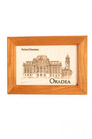 Tablou gravat, Palatul Primariei Oradea, cu rama inclusa 10/15 cm [0]