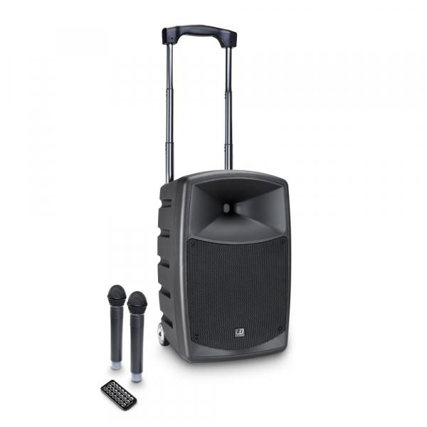 Boxa Activa Portabila cu baterie si 2 Microfone LD Systems ROADBUDDY 10 HHD 2 0