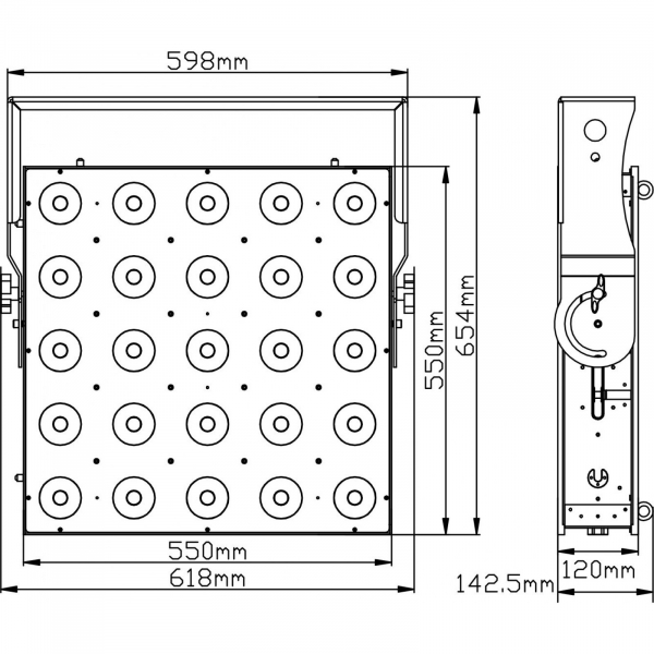 Proiector matrix Briteq BEAM MATRIX5x5-RGBW [7]