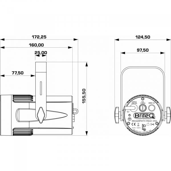 Proiector LED Briteq BEAMSPOT1-DMX WW [8]