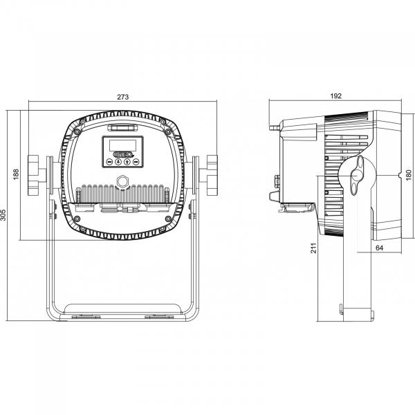 Par LED proiector Briteq BT-COLORAY 18FCR 14