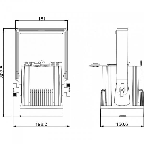 Proiector Exterior Led Briteq BT-NONAPIXEL WHITE 5
