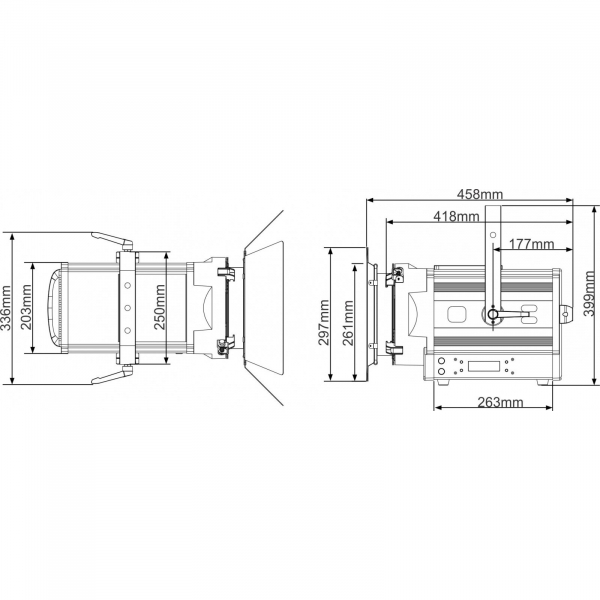Proiector LED Briteq BT-THEATRE 250EZ 8
