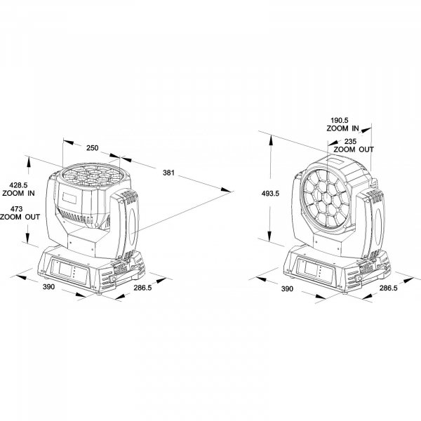 Moving Head Wash LED Briteq BTX-CIRRUS II 7