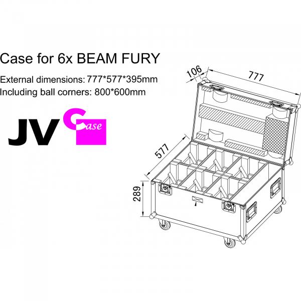 Case Briteq CASE for 6x BEAM FURY-1 [4]