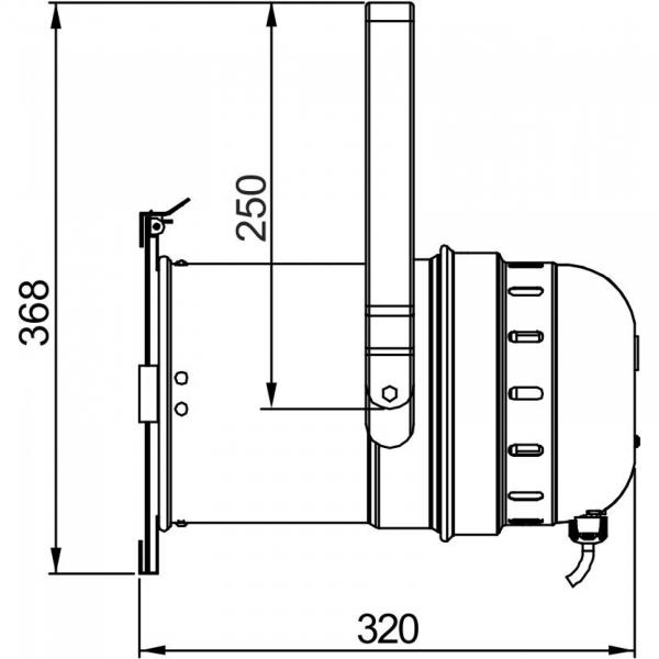 PAR LED Briteq COB PAR56-100WW BLACK 3