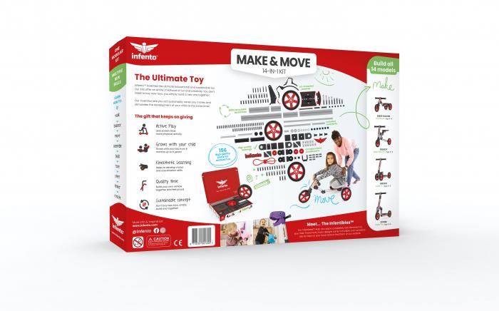 Infento Make and Move kit de constructie a 14 vehicule pentru copii 1- 7 ani [16]