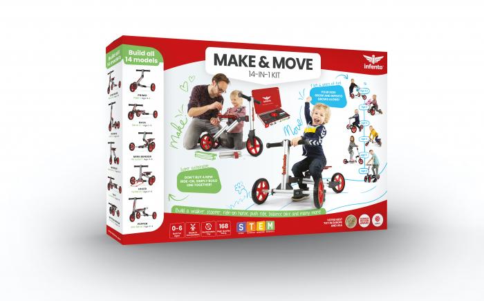Infento Make and Move kit de constructie a 14 vehicule pentru copii 1- 7 ani [0]