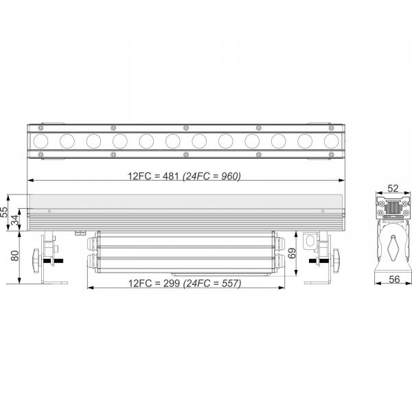 Bara LED Briteq LDP-POWERBAR 24FC 9