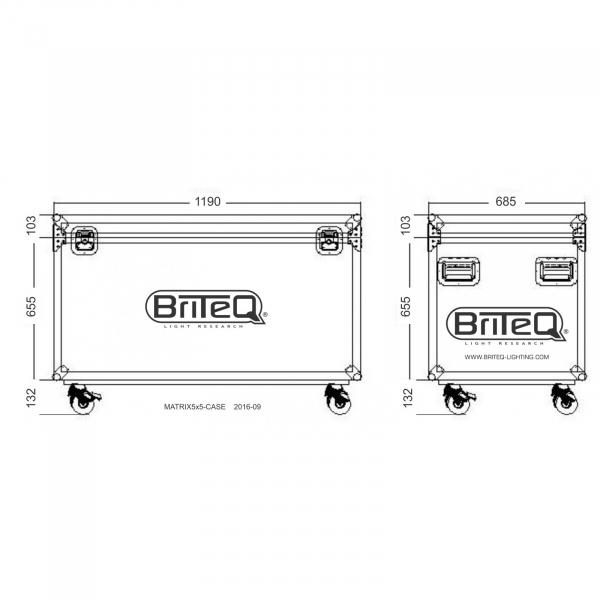 Case Briteq MATRIX5x5-CASE 8