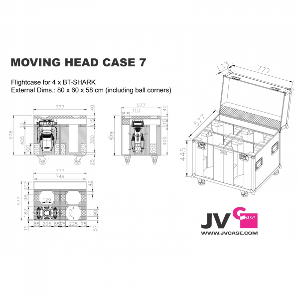Case Briteq MOVING HEAD CASE 7 3