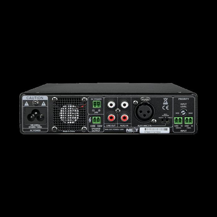 MX120 Mixer și Amplificator cu Bluetooth 5.0 și telecomandă 1