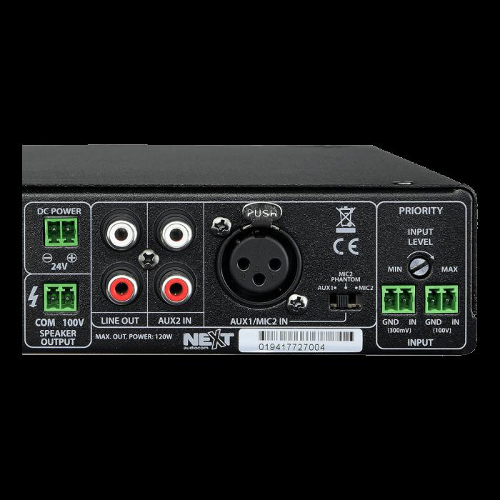 MX120 Mixer și Amplificator cu Bluetooth 5.0 și telecomandă 2