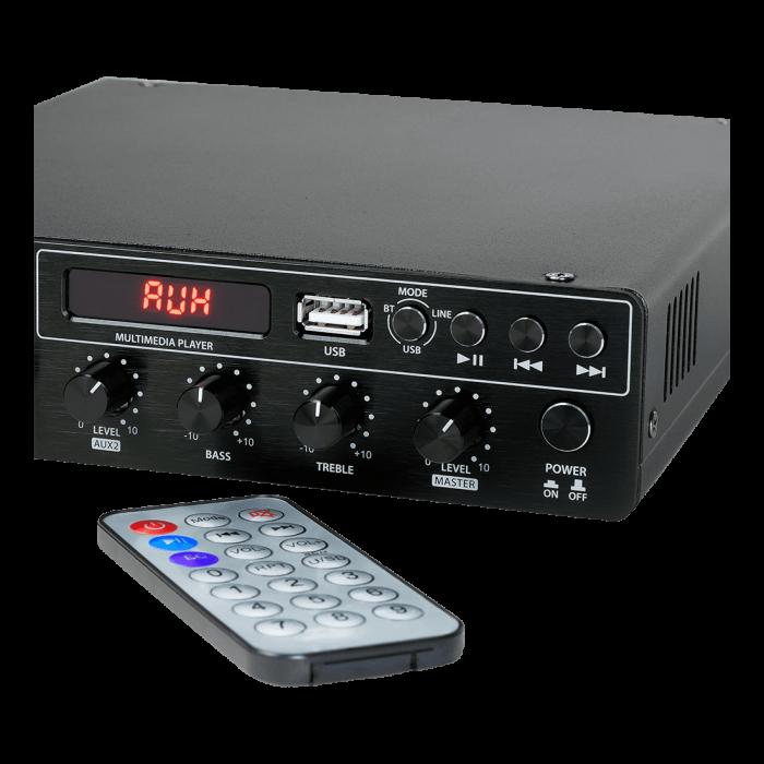 MX120 Mixer și Amplificator cu Bluetooth 5.0 și telecomandă 4