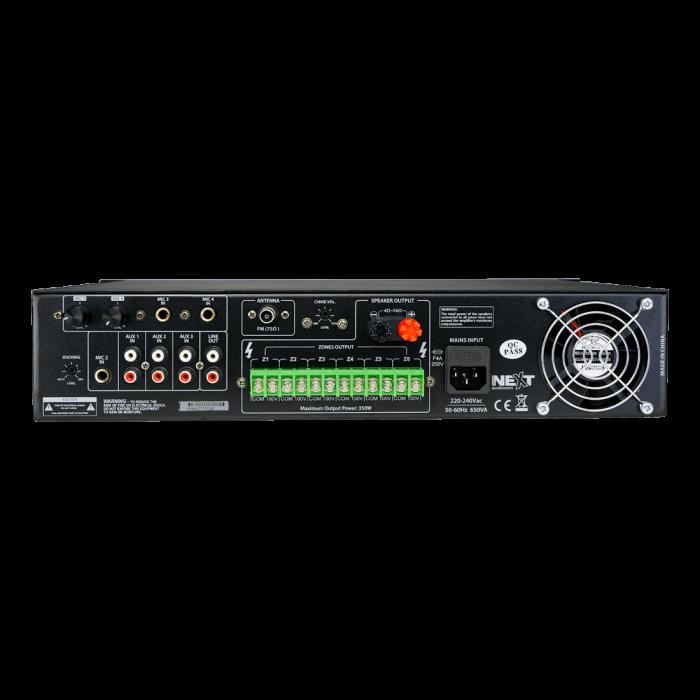 MX350 Mixer și Amplificator de linie cu 6 zone și telecomandă 3