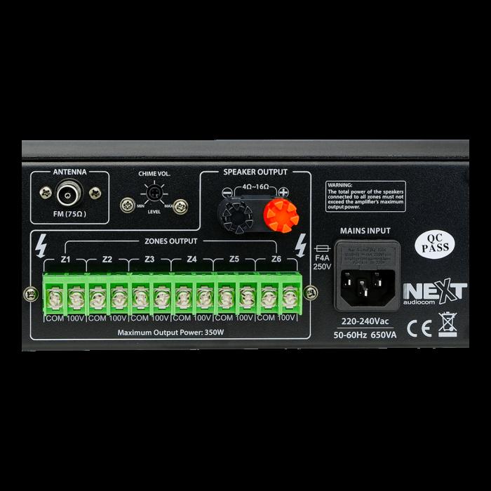 MX350 Mixer și Amplificator de linie cu 6 zone și telecomandă 5