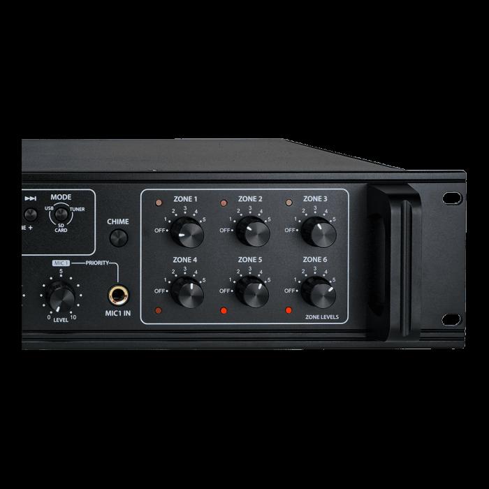 MX350 Mixer și Amplificator de linie cu 6 zone și telecomandă 2