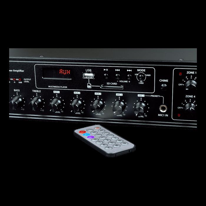 MX350 Mixer și Amplificator de linie cu 6 zone și telecomandă 1