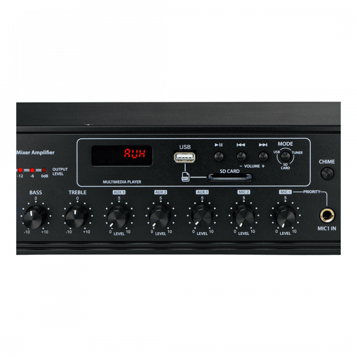MX350 Mixer și Amplificator de linie cu 6 zone și telecomandă 6