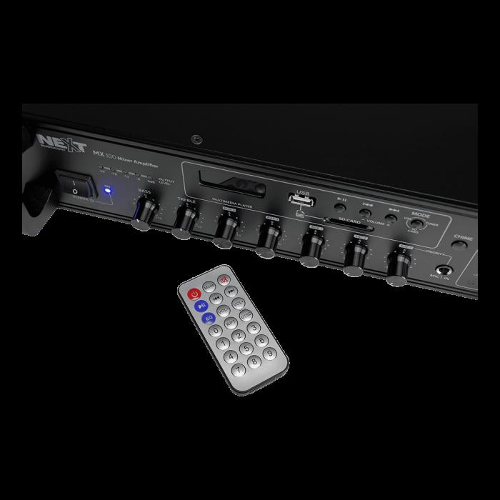 MX350 Mixer și Amplificator de linie cu 6 zone și telecomandă 7