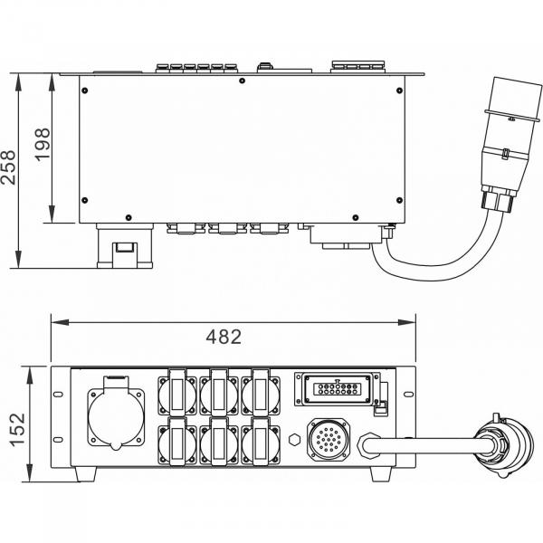 Distributie de curent Briteq PD-32SH/GERMAN 3