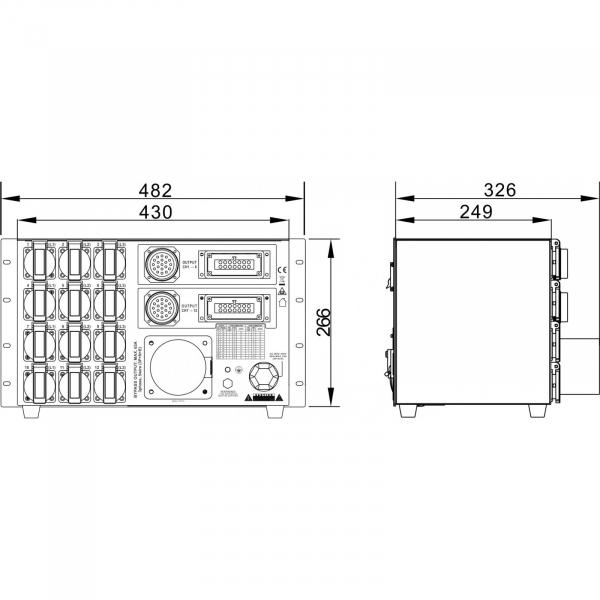Distributie de curent Briteq PD-63SH/FRA-BEL [13]
