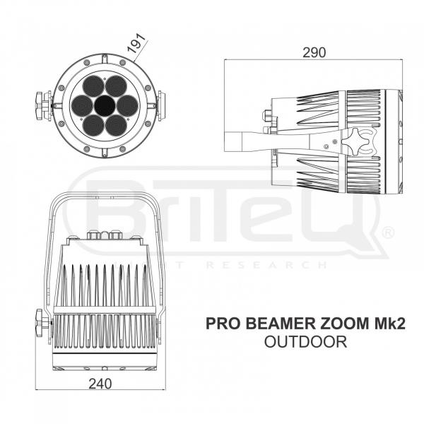 Par LED proiector Briteq PRO BEAMER ZOOM - RENTAL [14]