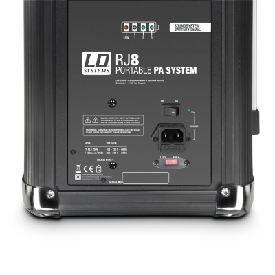Boxa Activa Portabila Bluetooth cu baterii si mixer LD Systems ROADJACK 8 [3]