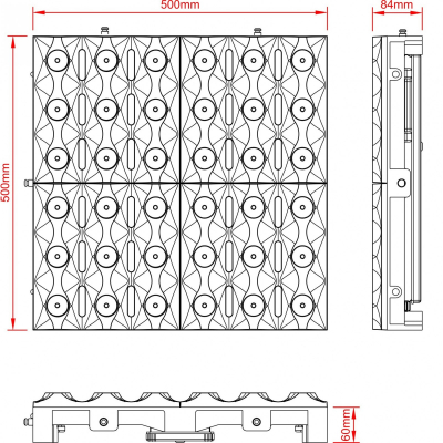 Efect LED Wall Briteq BT-GLOWPANEL BLACK6