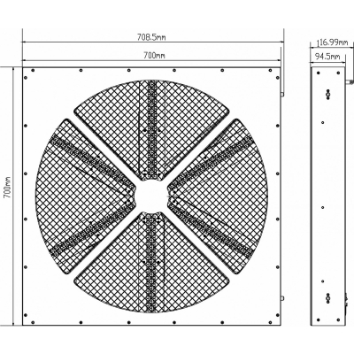 Ventilator cu LED Briteq BT-LEDROTOR [5]