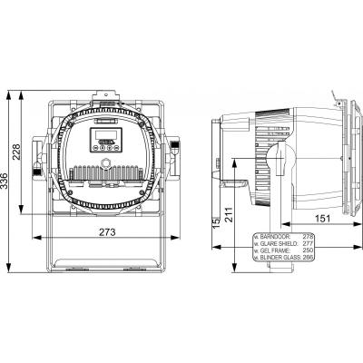 Proiector Briteq BT-SUNRAY 130R15