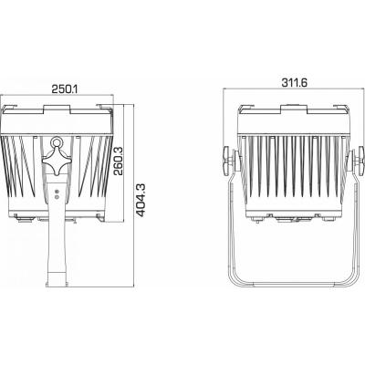 Par LED proiector Briteq BT-ULTRAZOOM5