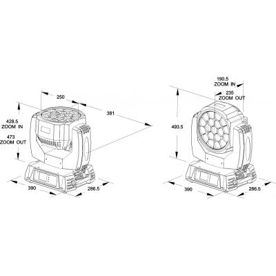 Moving Head Wash LED Briteq BTX-CIRRUS II7