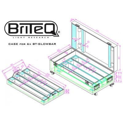 Case Briteq CASE for 8x BT-GLOWBAR4