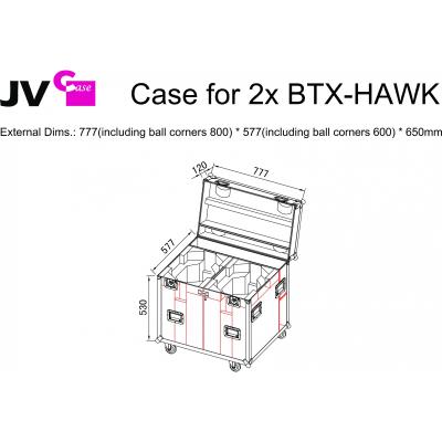 Case Briteq CASE for 2x BTX-HAWK2