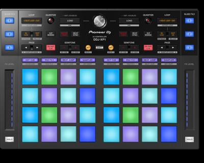 PIONEER DDJ-XP1 Controller DJ pentru DVD-uri Rekordbox DJ și Rekordbox DVS0