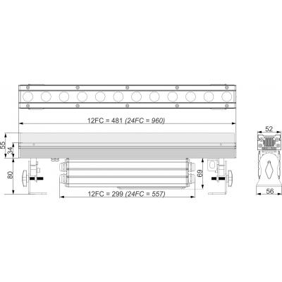 Bara LED Briteq LDP-POWERBAR 24FC9