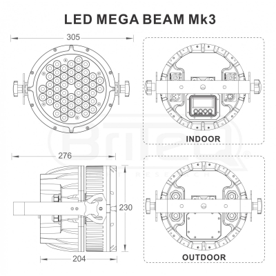 Par LED Briteq LED MEGA BEAM Mk37