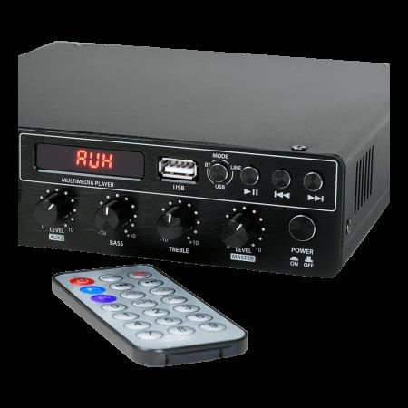 MX120 Mixer și Amplificator cu Bluetooth 5.0 și telecomandă4