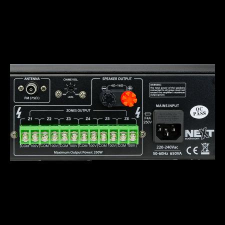 MX350 Mixer și Amplificator de linie cu 6 zone și telecomandă5