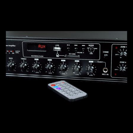 MX350 Mixer și Amplificator de linie cu 6 zone și telecomandă1